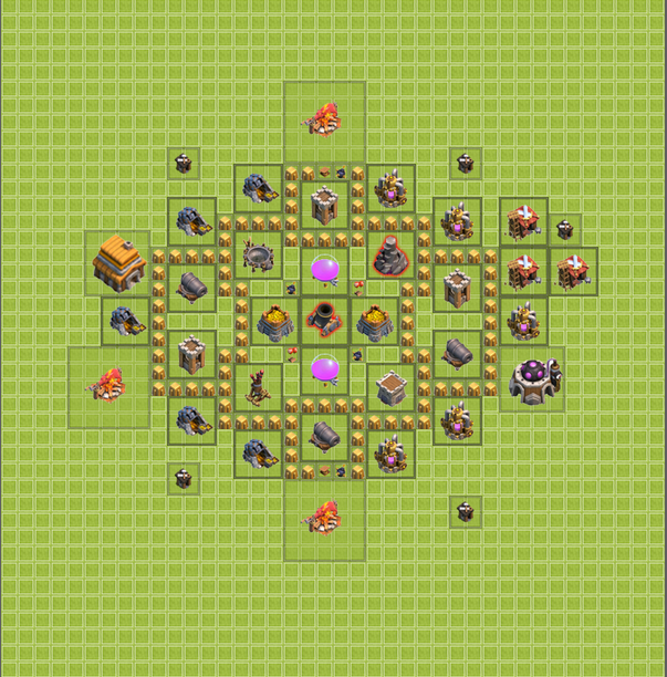 COC TH 5 Base Farming