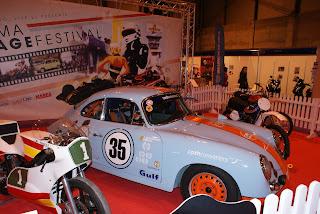 El Jarama Vintage Festival tuvo su presencia. Precioso Porsche decorado con los colores Gulf clásicos
