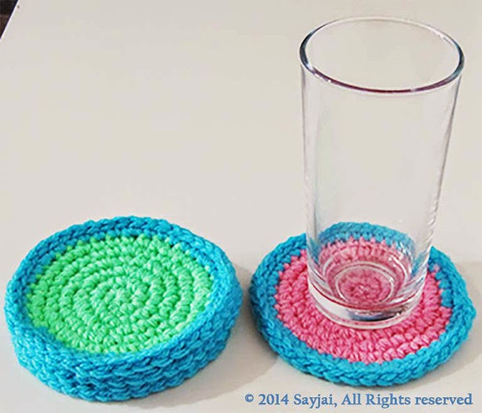 Free Crochet Patterns Of Coasters : Coasters (Free crochet pattern for coasters) - Sayjai ...
