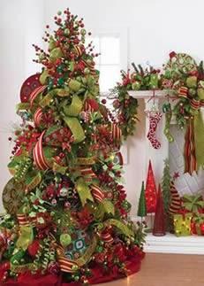 imagen de arboles coloridos de navidad