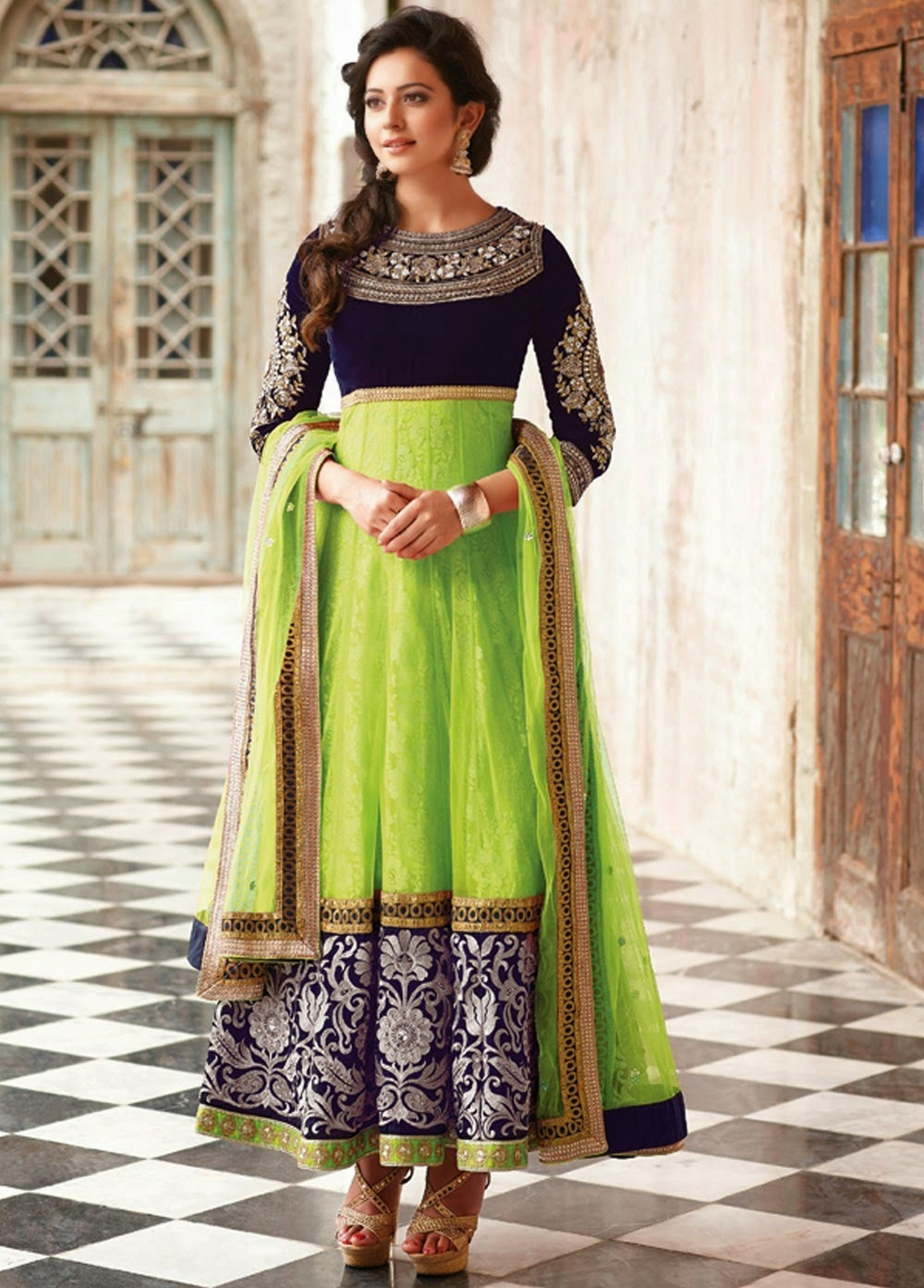 Anarkali embroidery suits collection images