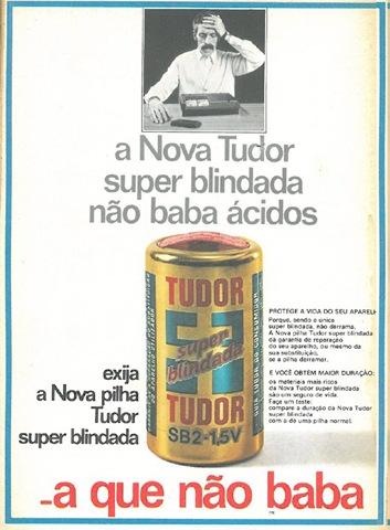 Propaganda das Pilhas Tudor (a que não baba) na década de 60.