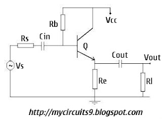 Emitter Follower circuit diagram