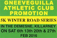 Killarney 5k Series...Feb 2016