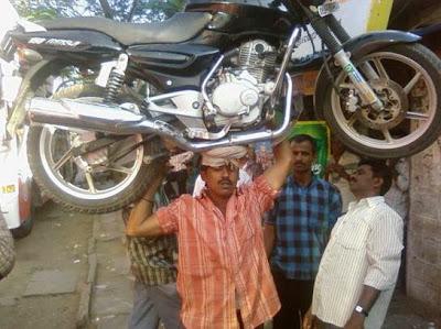 A moto leva você e você leva a moto