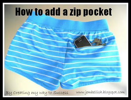 Add a Zip Pocket to Shorts