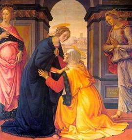 VISITACIÓN DE LA VIRGEN MARÍA A SU PRIMA ISABEL (Lc 1:39-46). Fiesta 31 de Mayo