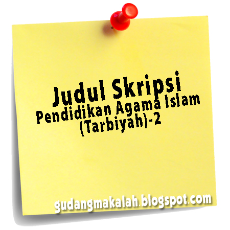 judul skripsi pendidikan agama islam (tarbiyah)-2