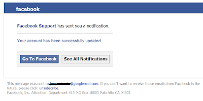 Facebook Phishing Support Email Scam