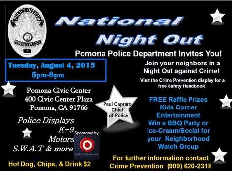 National Night Out Aug. 4th 2015