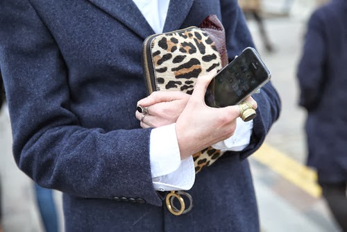 Leopard Clutch Bag Street Style Fashion Week