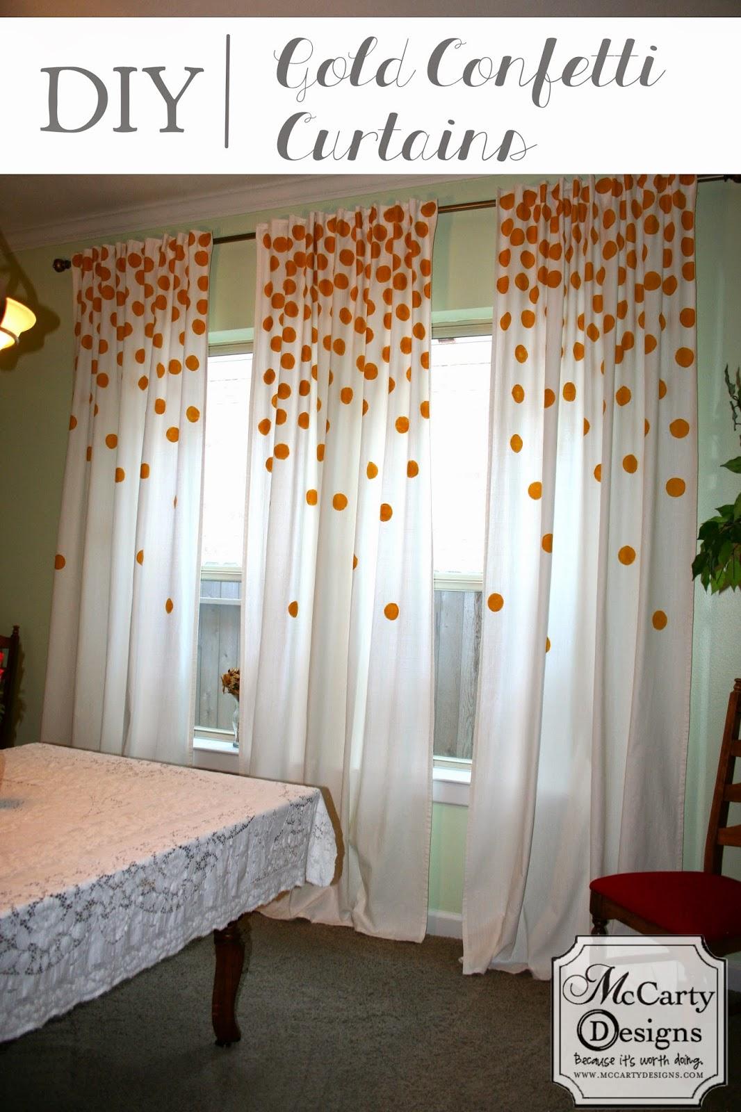 DIY Gold Confetti Curtains. DIY Gold Confetti Curtains   McCarty Adventures