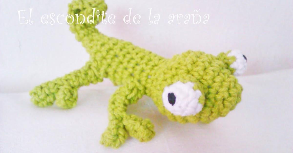 Amigurumi Chameleon Pattern : El escondite de la arana: Camaleon amigurumi
