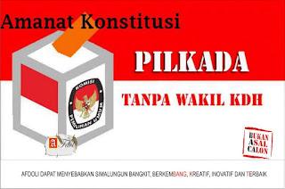 Save Konstitusi melalui uji formil UU. Pilkada tanpa wakil Gubernur, Bupati dan walikota