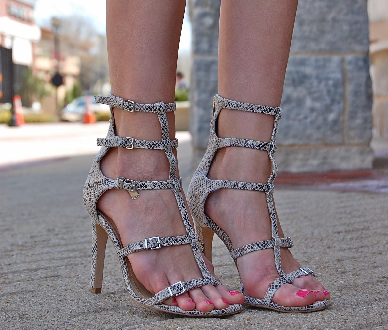 BCBGeneration Manci Sandal, Gladiator snakeskin sandal