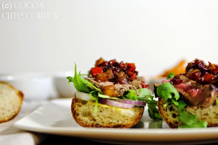Steak Sandwich and Sweet Patatoe Fries