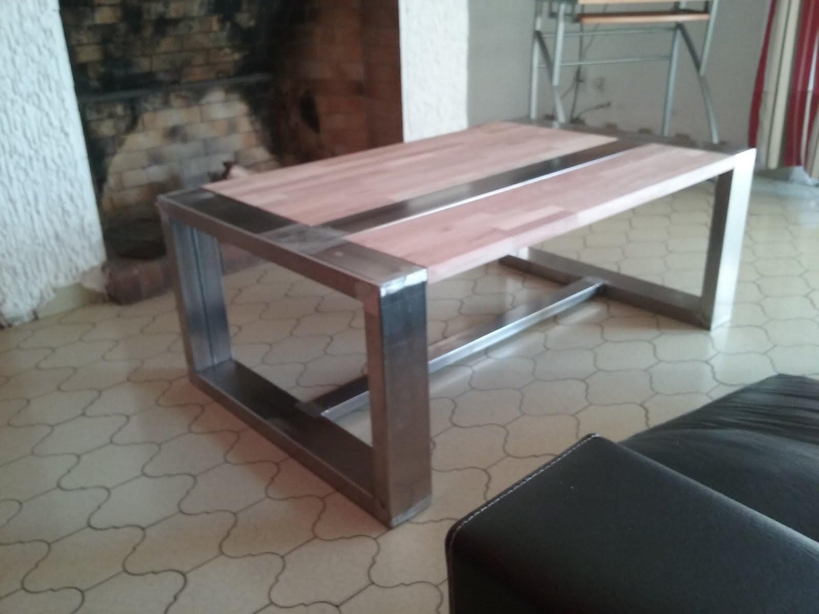 Muebles artesanales en hierro y madera - Mesa de hierro ...