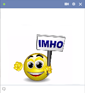 IMHO emoticon - Talking smiley
