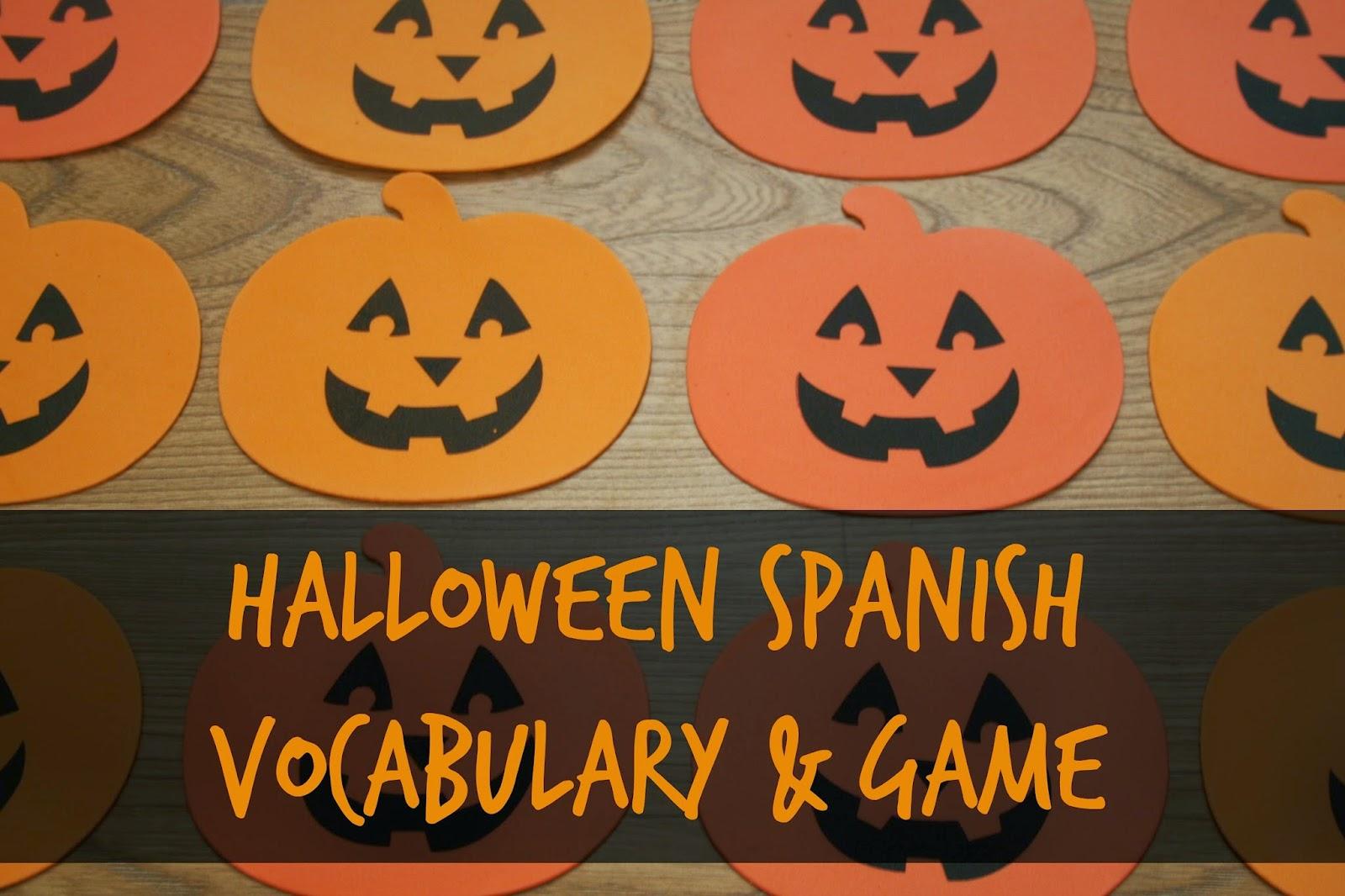 For the Love of Spanish: Halloween Spanish Vocab Practice
