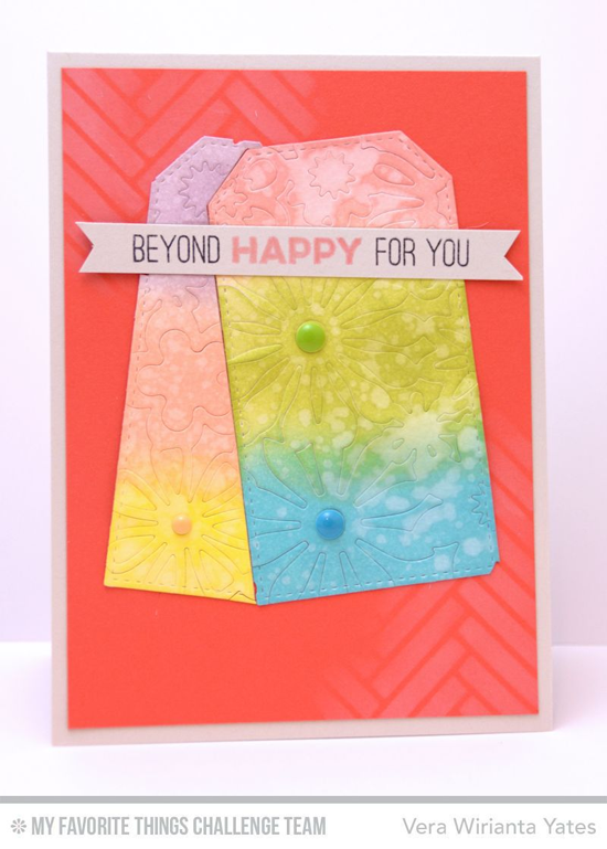Beyond Happy Card from Vera Wirianta Yates featuring the Totally Happy stamp set and Floral Fusion Cover-Up Die-namics