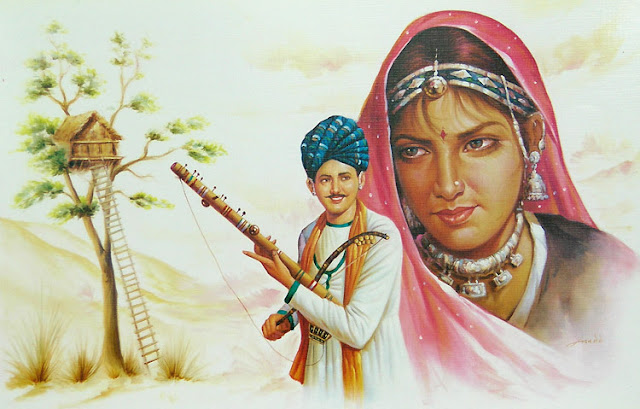 Rajasthani Girls Art Paintings 39