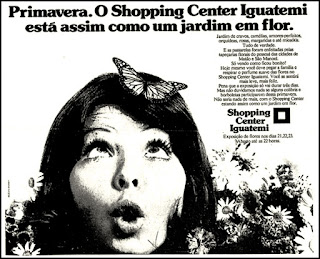 Iguatemi, 1972; os anos 70; propaganda na década de 70; Brazil in the 70s, história anos 70; Oswaldo Hernandez;