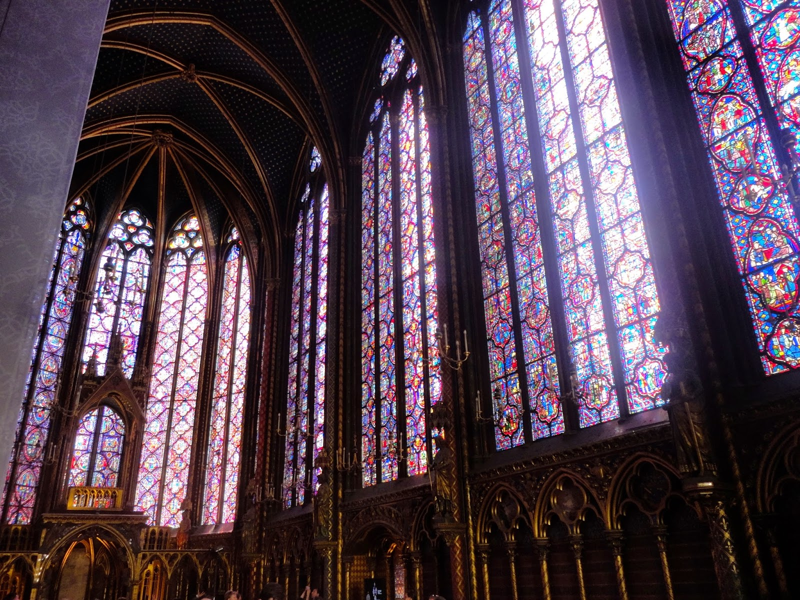 Interior of Sainte-Chapelle, Paris