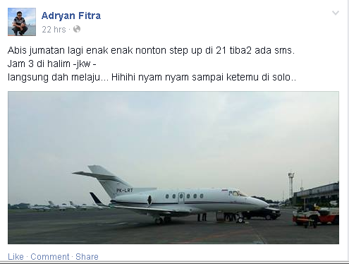 private jet jokowi presiden indonesia
