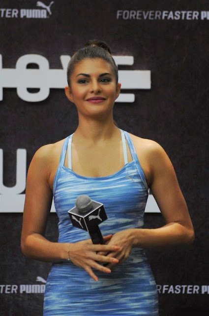 Jacqueline Fernandez Displays Her Amazing Figure and Does a Full Split At The Launch Of Puma Pulse XT Training Shoes In Tote