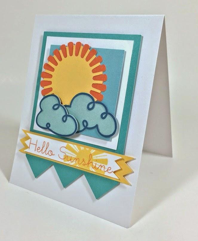 Cricut Sunshine card sideview