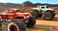 Canavar arabalar yarışıyor 3d