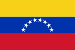 BANDERA DE LA REPÚBLICA BOLIVARIANA DE VENEZUELA.