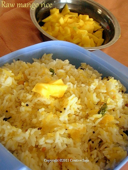 maamidikaya pulihora/raw mango rice/maangai saadam
