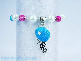 kawaii fairy kei seashell beaded bracelet