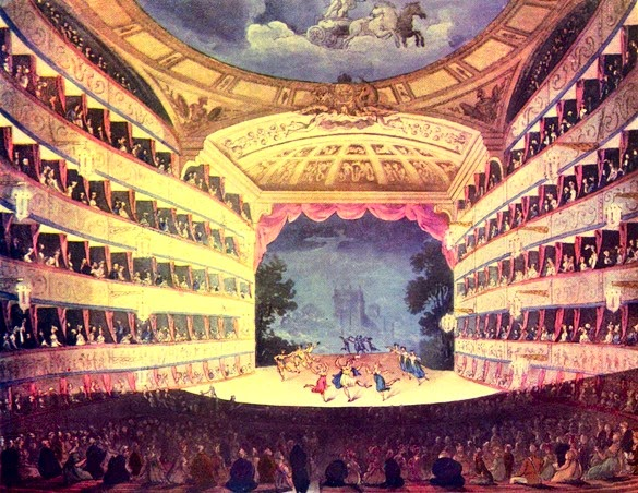 Opera House from The Microcosm of London (1808-10)