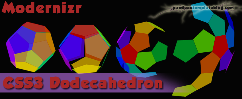 Dodecahedron: Pentagon Efek Hover CSS