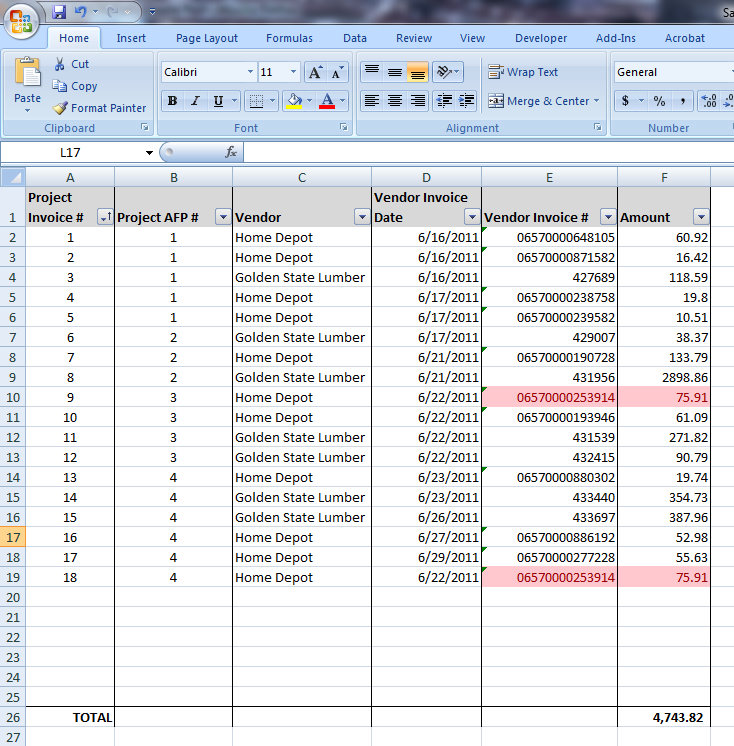 What are invoice log templates