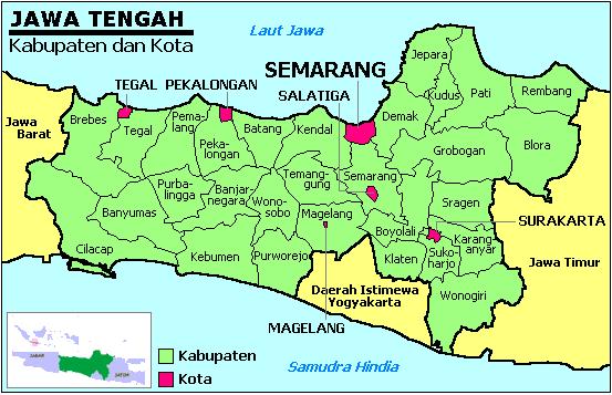 Peta Lokasi Kabupaten Kebumen Provinsi Jawa Tengah Gambar Daerah Pulau