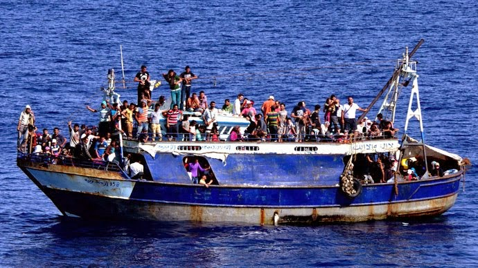Barbarism Alert - Smugglers drown Migrants from Africa on Sept. 10, 2014