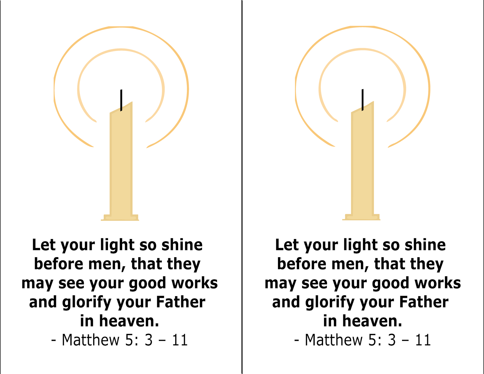 Many Mercies: Let Your Light So Shine - Candle Lesson for Kids