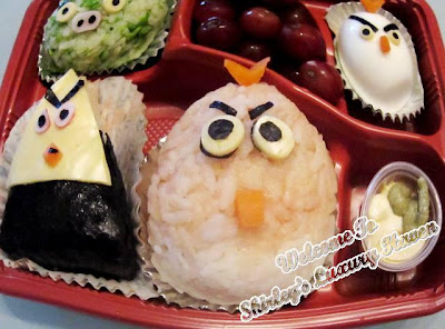 angry birds japanese rice ball recipes for kids