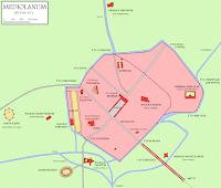 map of Mediolanum, Roman Milan