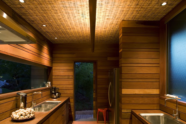 Picture of small tropical bathroom