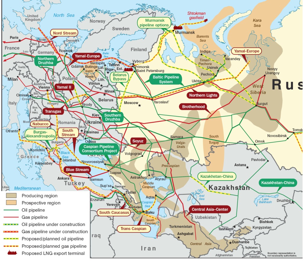 Viable Opposition The Solution To The Growing Hostilities In Ukraine - Map us oil pipelines
