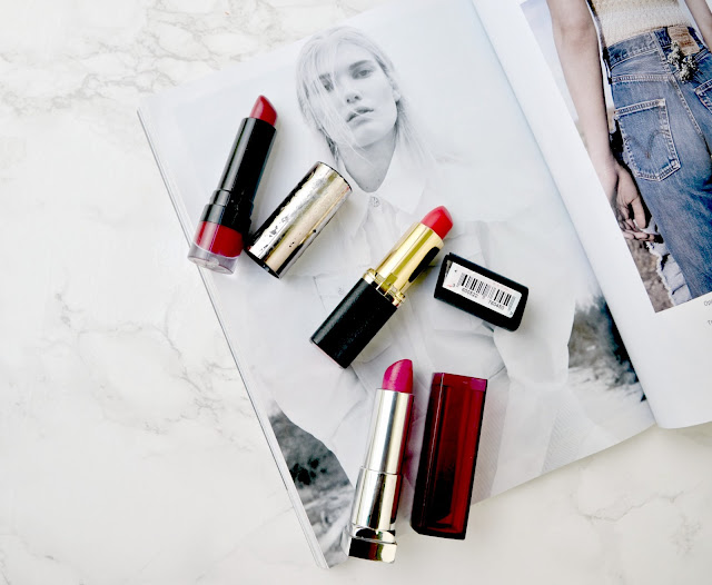 how to wear bold lipsticks in the summer, loreal julianne red lipstick swatches and review