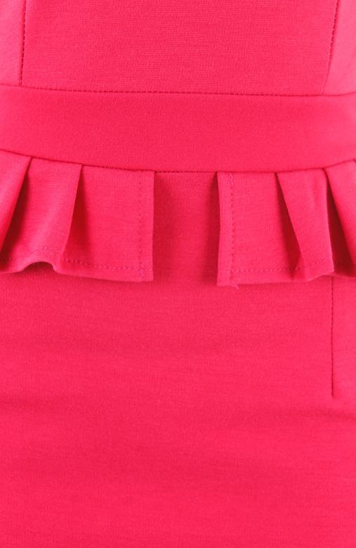 Mode Evening Peplum Dress – Hot Pink
