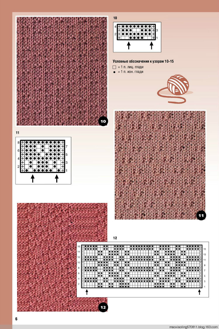 Узоры и схемы вязания спицами описание 8