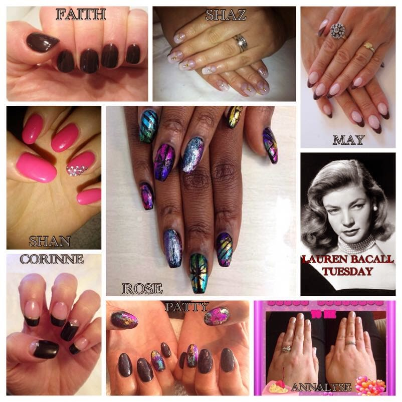 Acrylics + gels + foils + Shellac + stones 3D fiber lash mascaras, files, removal kits and cuticle oils