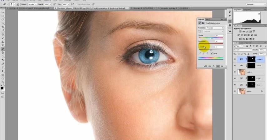Fotoritocco degli occhi con Photoshop - Tutorial