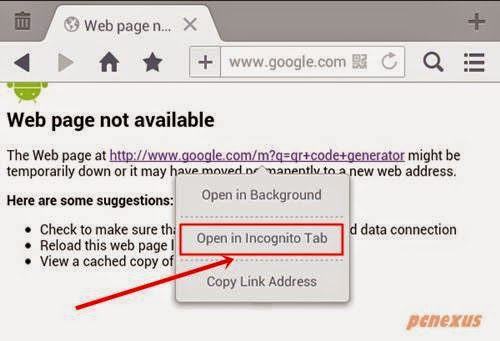 open links in incognito tab